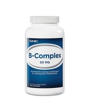Витамины и минералы GNC B COMPLEX 50 mg