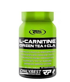 Л-карнитин Real Pharm L-Carnitine Green Tea + CLA