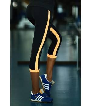 Лосины и леггинсы Cпортивная одежда D4fs Спортивные капри Low Rise Orange