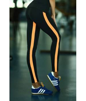 Лосины и леггинсы Cпортивная одежда D4fs Спортивные леггинсы Low Rise Orange
