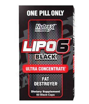 Комплексные жиросжигатели Nutrex Lipo 6 black Ultra Concentrate