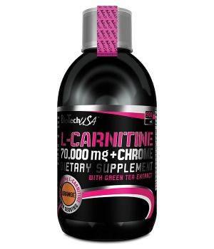 Л-карнитин BioTech L-Carnitine 70 000 + chrome