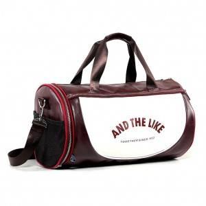 Спортивная сумка модель 10-1 (Бордово/Белая)