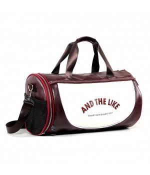 Сумки Спортивная сумка модель 10-1 (Бордово/Белая)