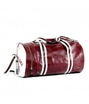 Сумки Young and Brave Спортивная сумка модель 9-1 (Бордово/Белая)