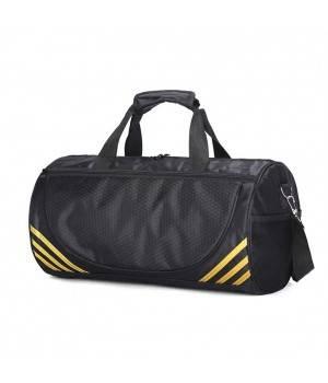 Сумки Young and Brave Спортивная сумка модель 1-1 (Черная/Золото)