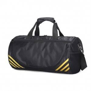 Спортивная сумка модель 1-1 (Черная/Золото)