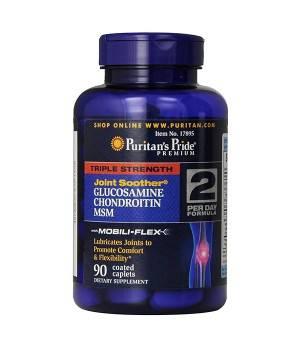Суставы и связки Puritan's Pride Glucosamine Chondroitin MSM - Triple Strength