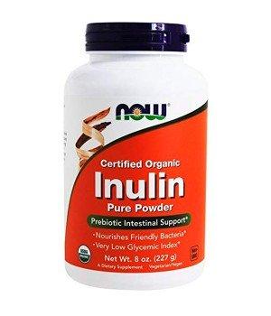 Витамины и минералы Now Foods Inulin Powder Organic