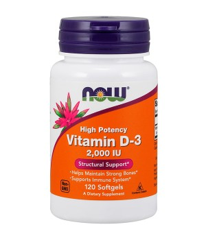 Витамины и минералы Now Foods Vitamin D-3 2000 IU