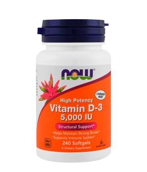 Витамины и минералы Now Foods Vitamin D-3 5000 IU