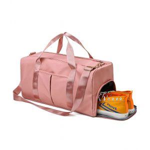 Спортивная сумка модель 120-1 (Розовая)