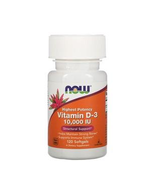 Витамины и минералы Now Foods Vitamin D-3 10000 IU