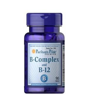 Витамины и минералы Puritan's Pride B-Complex + B12 Puritan's Pride