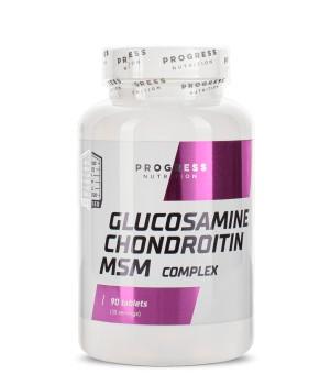 Суставы и связки Progress Nutrition GLUCOSAMINE, CHONDROITIN & MSM Progress Nutrition