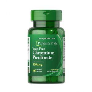 Chromium Picolinate 500 mcg Yeast Free Puritan's Pride