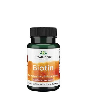Витамины и минералы Swanson Biotin 5,000 мкг Swanson