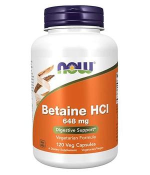 Витамины и минералы Now Foods NOW Betaine HCI 648 mg