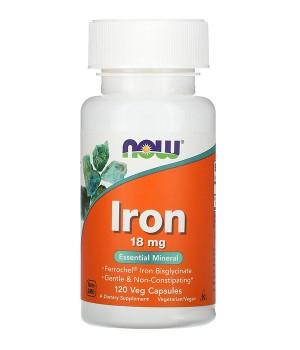 Витамины и минералы Now Foods NOW Iron 18 mg