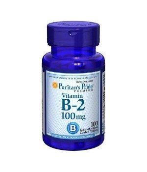 Витамины и минералы Puritan's Pride Puritan's Pride B-2 100 mg