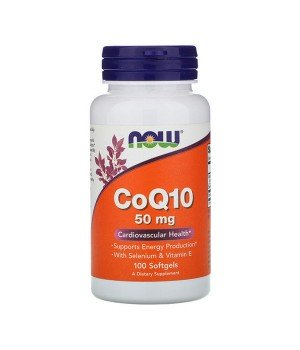 Витамины и минералы Now Foods NOW CoQ10 50mg + VIT E