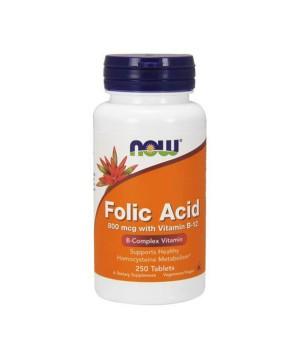 Витамины и минералы Now Foods NOW FOLIC ACID 800mcg