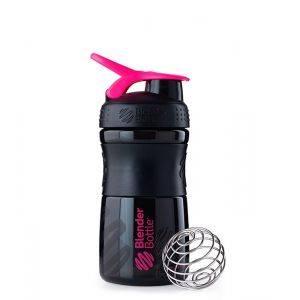 Blender Bottle черно-розовый (600 мл)