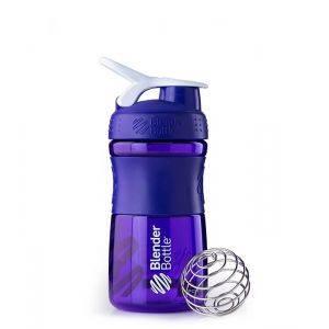 Blender Bottle фиолетовый-белый (600 мл)