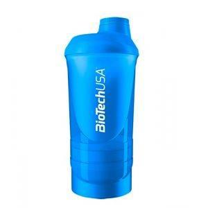 Шейкер 3-х компонентный BioTech WAVE (синий)